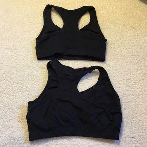 Jockey Intimates & Sleepwear - Black sports bra bundle size Small